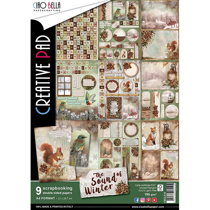 CIAO BELLA SOUND OF WINTER DOUBLE-SIDED CREATIVE PAD A4