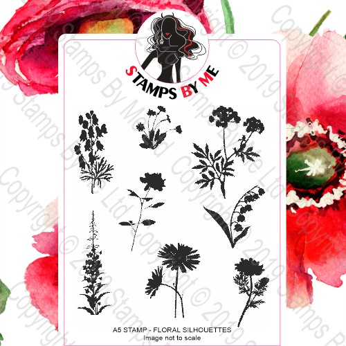 539504 TV - A5 STAMP SET - FLORAL SILHOUETTES - 020620j