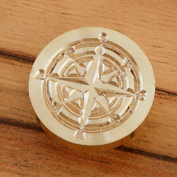 WAX SEAL BRASS HEAD - COMPASS - 060620f