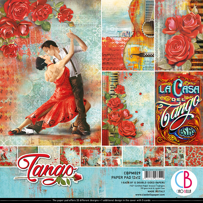 CIAO BELLA TANGO DOUBLE-SIDED PAPER PAD 12X12