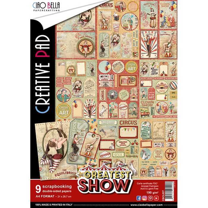 CIAO BELLA THE GREATEST SHOW DOUBLE-SIDED CREATIVE PAD A4