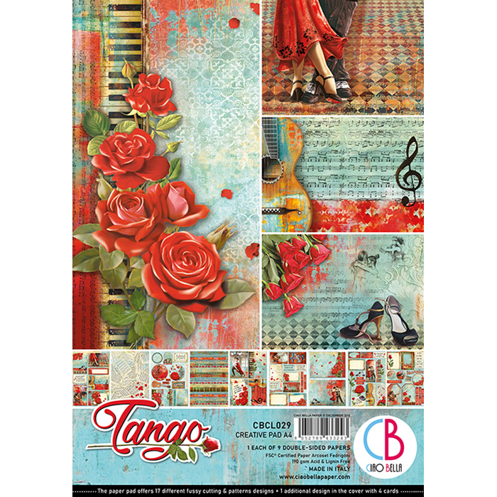 CIAO BELLA TANGO DOUBLE-SIDED CREATIVE PAD A4