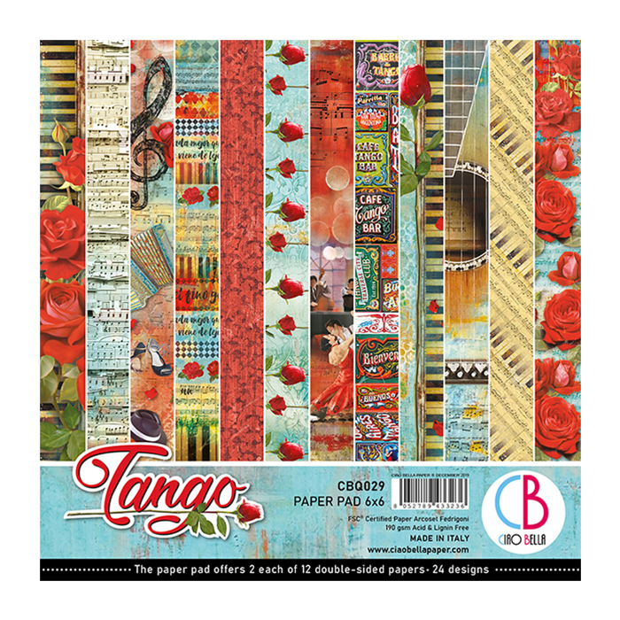 CIAO BELLA TANGO DOUBLE-SIDED PAPER PAD 6X6