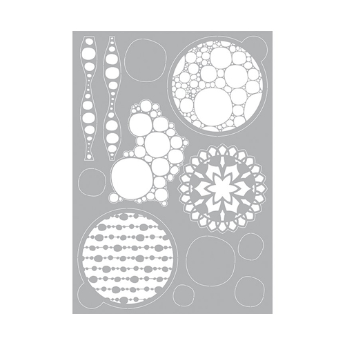 PRONTY GEL STENCIL A4 - BUBBLE