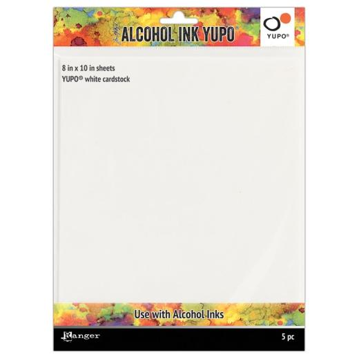 TIM HOLTZ - ALCOHOL INK - YUPO WHITE CARDSTOCK