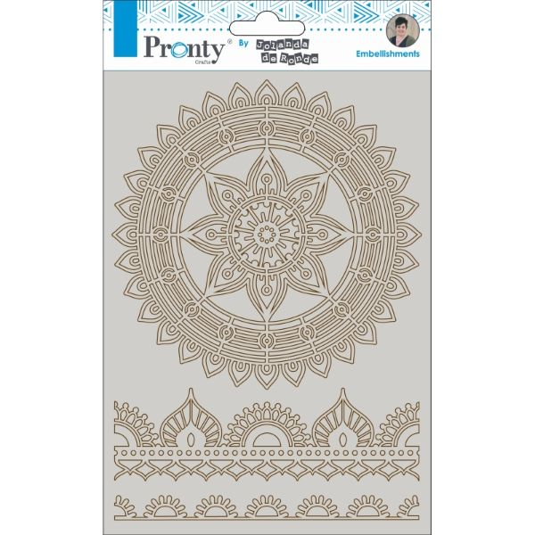 PRONTY A5 CHIPBOARD MANDALA & BORDERS 2