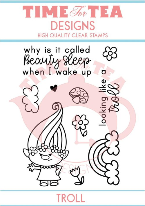 TIME FOR TEA - A7 STAMP SET - BEAUTY SLEEP