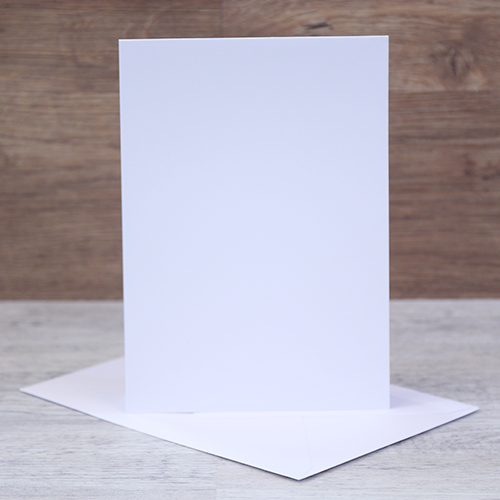 TOP FOLDING NOTE CARDS WHITE