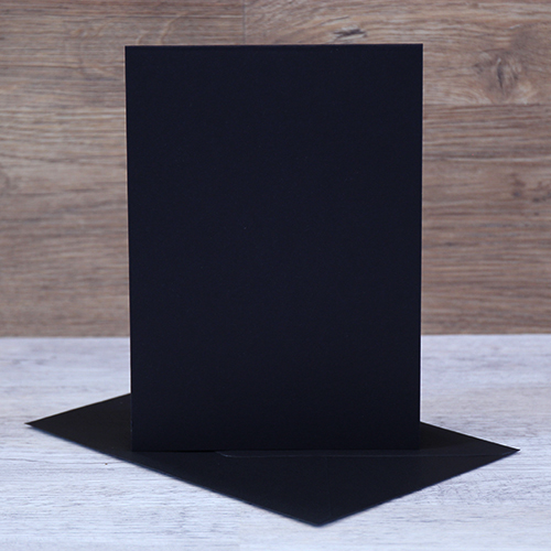 TOP FOLDING NOTE CARDS BLACK
