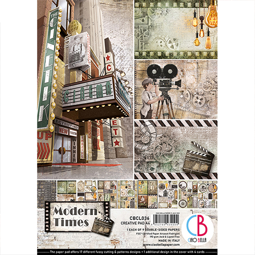 CIAO BELLA MODERN TIMES DOUBLE-SIDED CREATIVE PAD A4