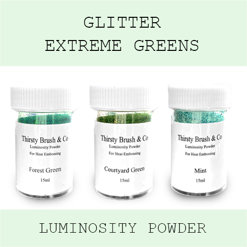 THIRSTY BRUSH & CO - GLITTER EXTREME GREENS TRIO