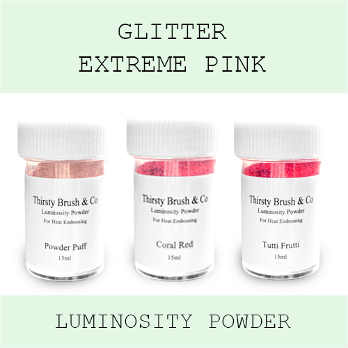 THIRSTY BRUSH & CO - GLITTER EXTREME PINK TRIO