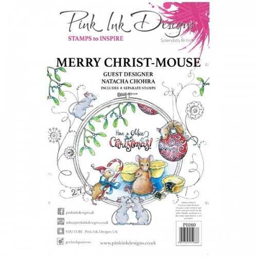 PINK INK DESIGNS MERRY CHRIST-MOUSE