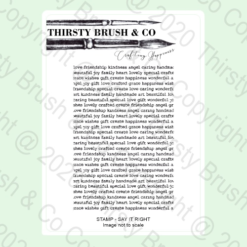 570876 TV - THIRSTY BRUSH & CO - A5 STAMP - SAY IT RIGHT - 140820a - SHOW - FBL