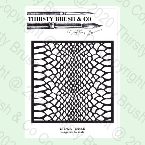 570867 TV - THIRSTY BRUSH & CO - STENCIL - SNAKE - 140820k - SHOW - FBL