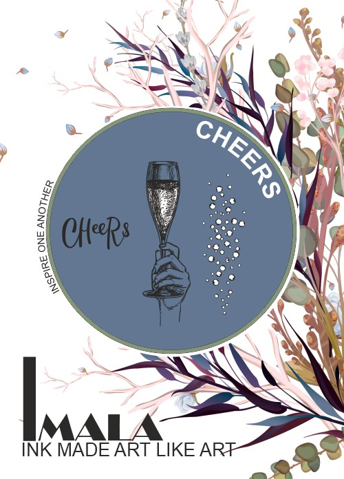582958 - TV - IMALA - A5 STAMP - CHEERS - 120920d