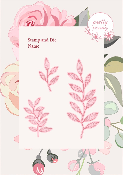 585178 - TV - PRETTY PENNY - A6 STAMP AND DIE - GARDEN LEAVES - 021020a
