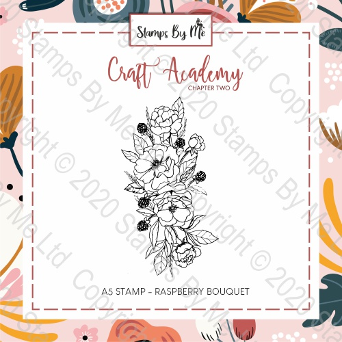 CRAFT ACADEMY CHAPTER TWO - A5 STAMP - RASPBERRY BOUQUET
