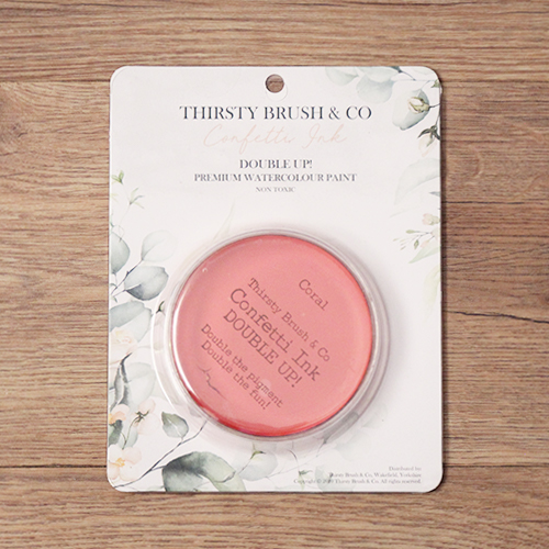 TV - THIRSTY BRUSH & CO. - CONFETTI INK - DOUBLE UP! - CORAL - 091120j - SHOW