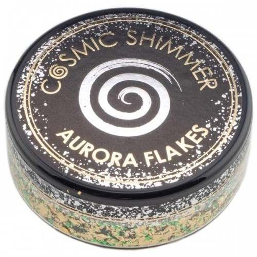 COSMIC SHIMMER - AURORA FLAKES 50ML - JADE GOLD
