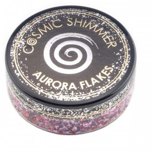 COSMIC SHIMMER - AURORA FLAKES 50ML - BLISSFUL BERRY