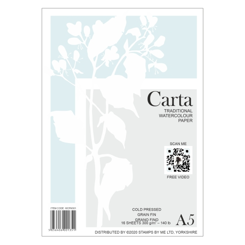 CARTA - TRADITIONAL WATERCOLOUR PAPER - A5  140121a