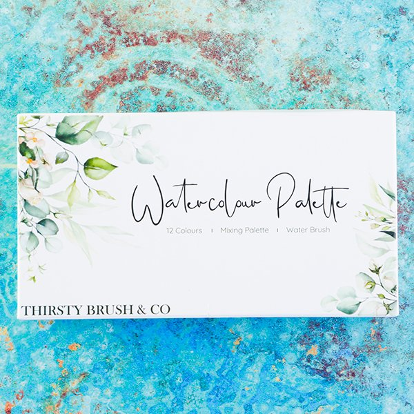 THIRSTY BRUSH & CO - WATERCOLOUR PALETTE 12 COLOURS