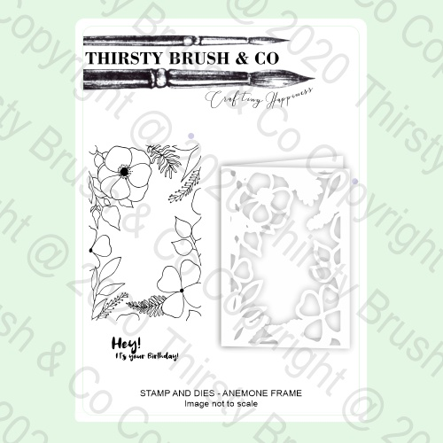 852922 TV - THIRSTY BRUSH & CO - A5 STAMPS AND DIES - ANEMONE FRAME - 030521a