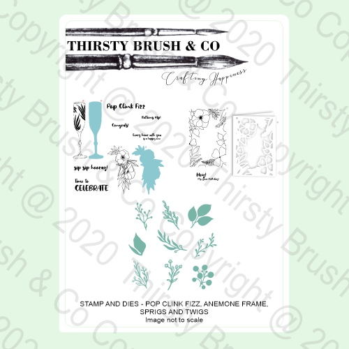 100003 - HTCN - THIRSTY BRUSH A5 STAMP AND DIE BUNDLE FBL