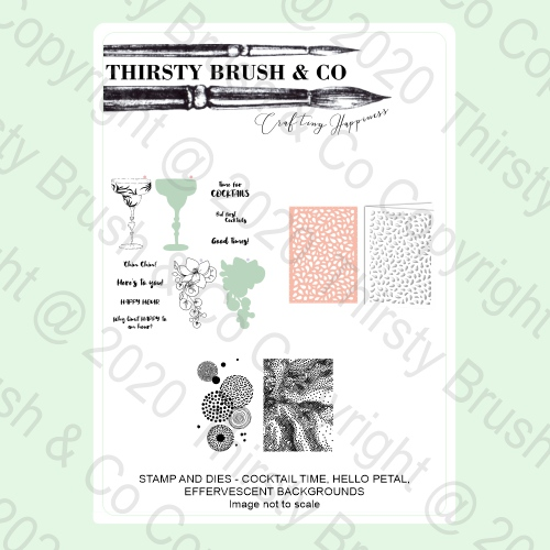 100004 - HTCN - THIRSTY BRUSH A5 STAMP AND DIE BUNDLE FBL