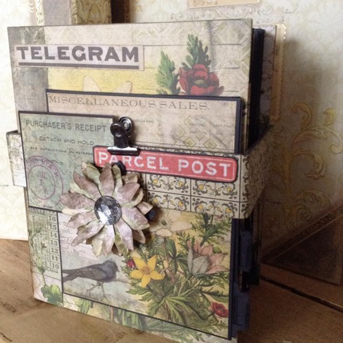 TUTORIAL - TIM HOLTZ WALLFLOWER MINI ALBUM - Select 'NO POSTAGE' in DELIVERY OPTION (if purchasing on it's own) or you will be charged for Delivery