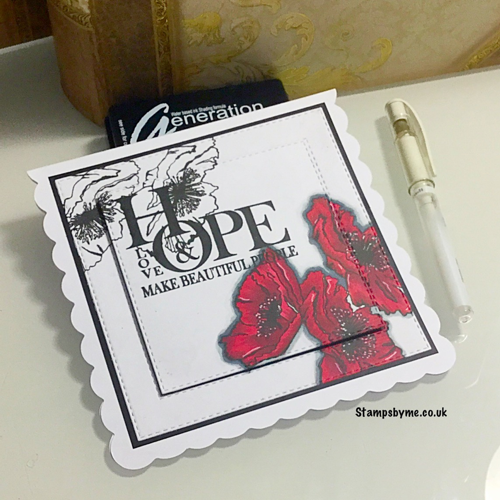 GLASS FLOWERS stamp set