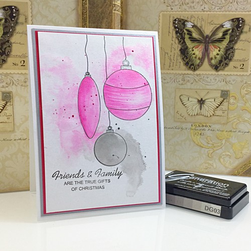 COLOURING BAUBLES stamp set