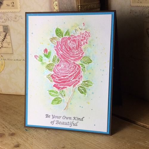 WILD WINTER ROSE stamp