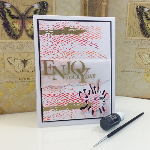 ENJOY LOVE AND HOPE stamp set
