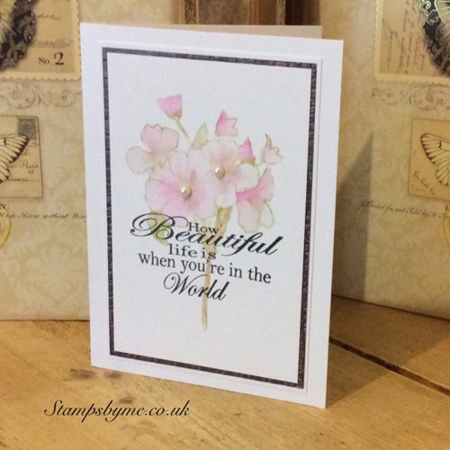 HOW BEAUTIFUL and WITH SYMPATHY stamps