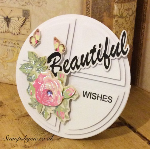 BEAUTIFUL and WISHES stamp