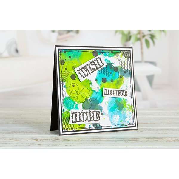 ABSTRACT DREAMS SENTIMENT stamp set