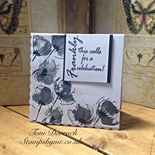 POPPY TRIO stamp and FRANKLY sentiment