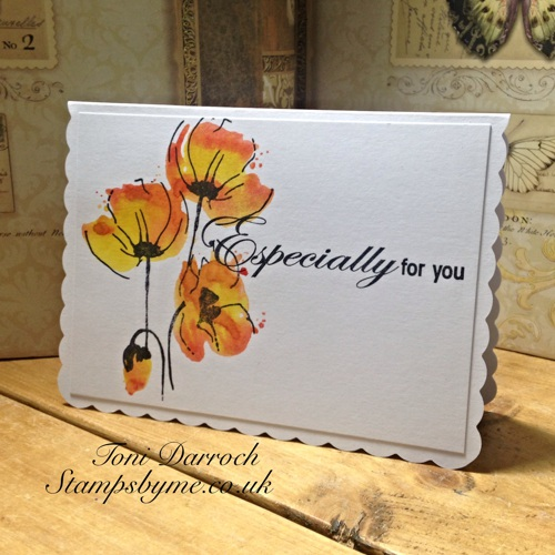 POPPY TRIO stamp and ESPECIALLY FOR YOU sentiment