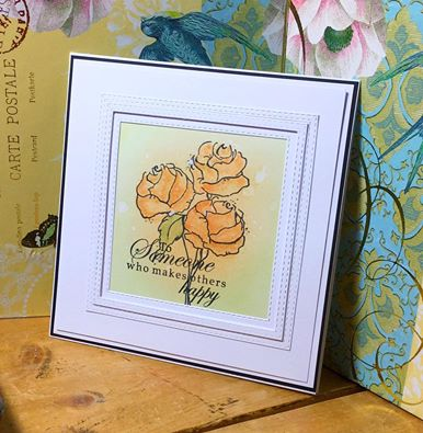 ROMANTIC ROSE stamp set