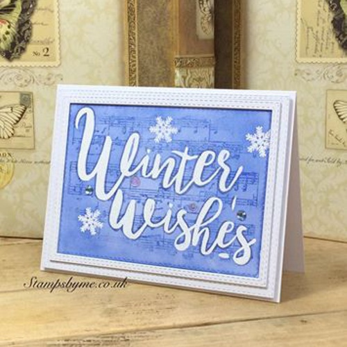 WINTER WISHES stamp set VINTAGE MUSIC stamp set