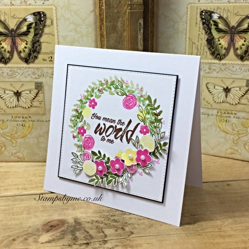 YOU MEAN THE WORLD TO ME stamp set
